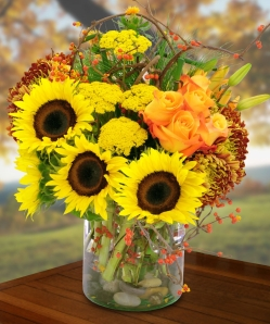 Fall Harvest flowers by the armful! Bushels of flowers always bring bright tiding and joy to the heart.